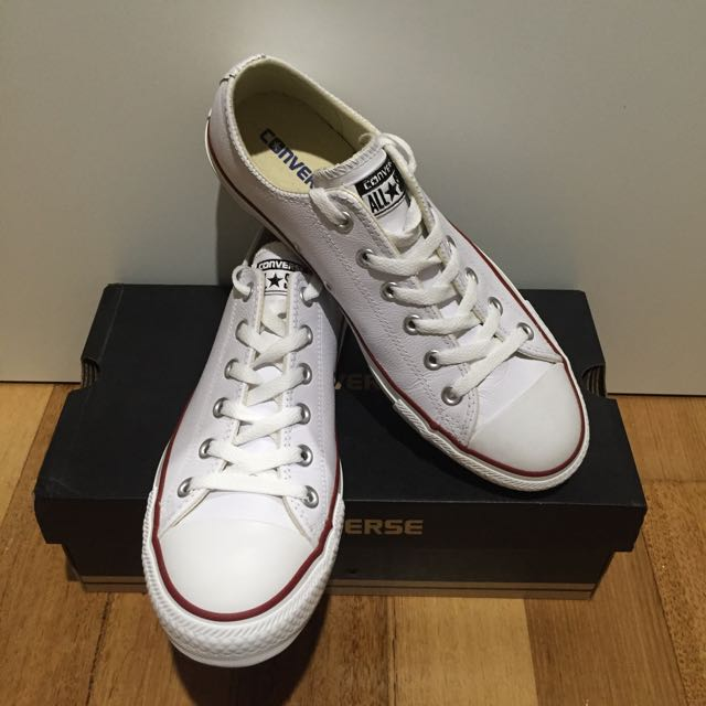 Converse White Leather Unisex