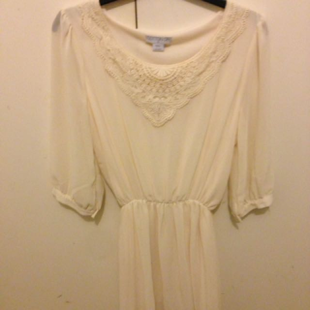 Cream Winter Dress