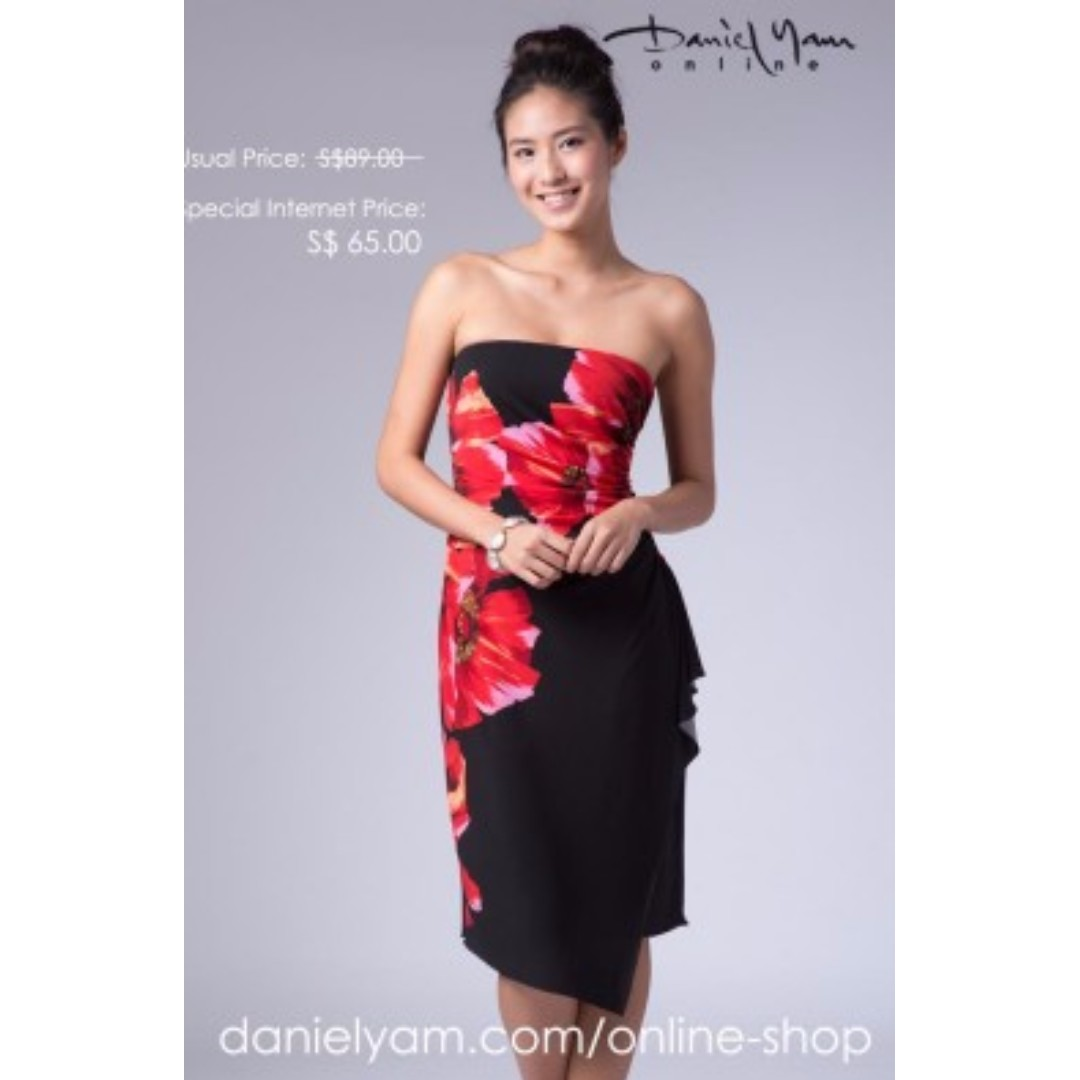 e29837f8c8d Daniel Yam Runched Tube Dress