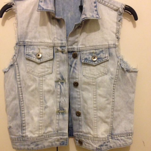Denim Sleeveless Jacket