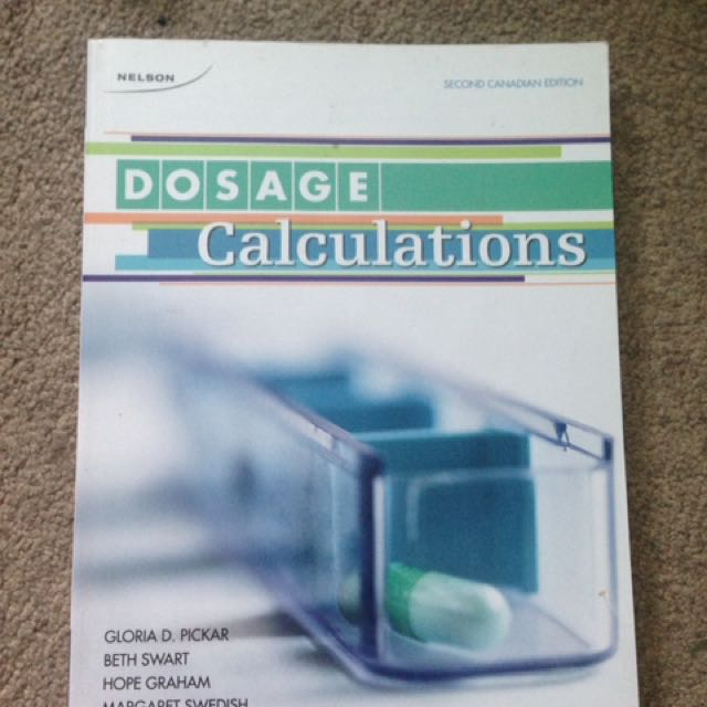 Dosage Calculations Textbooks