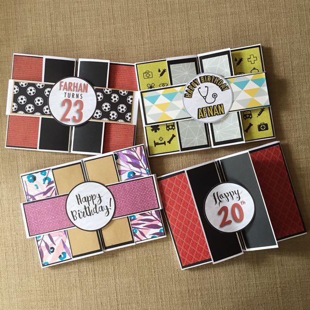 Handmade & Custom Double Tri Shutter Cards