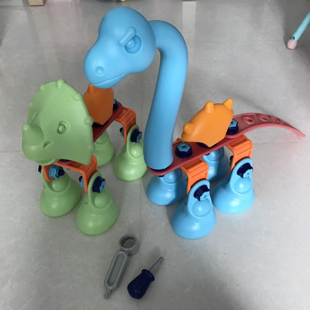 ELC Build It Chunky Dino, Babies & Kids, Toys & Walkers on