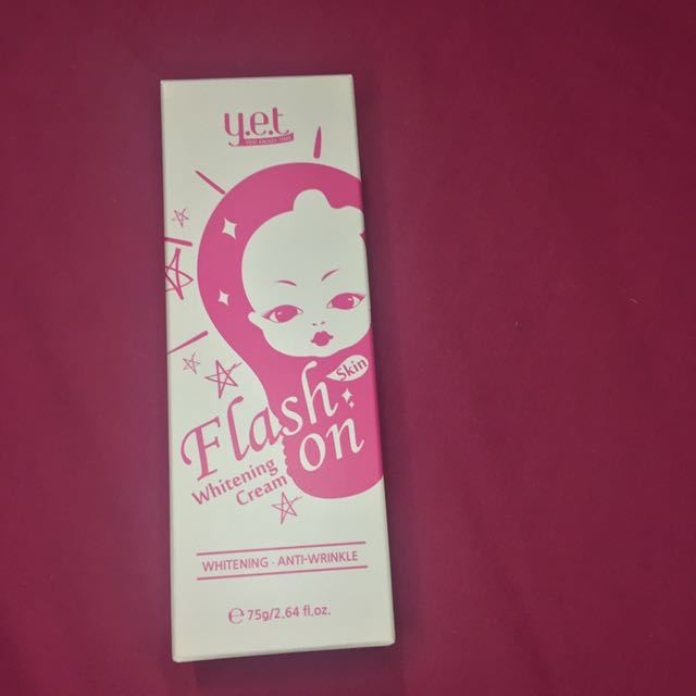 Y.E.T Flash On Whitening Cream (NEW)