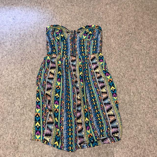 Forever21 Printed Tube Dress