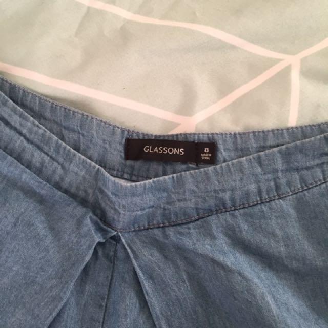GLASSONS DENIM SHORTS // Size 8