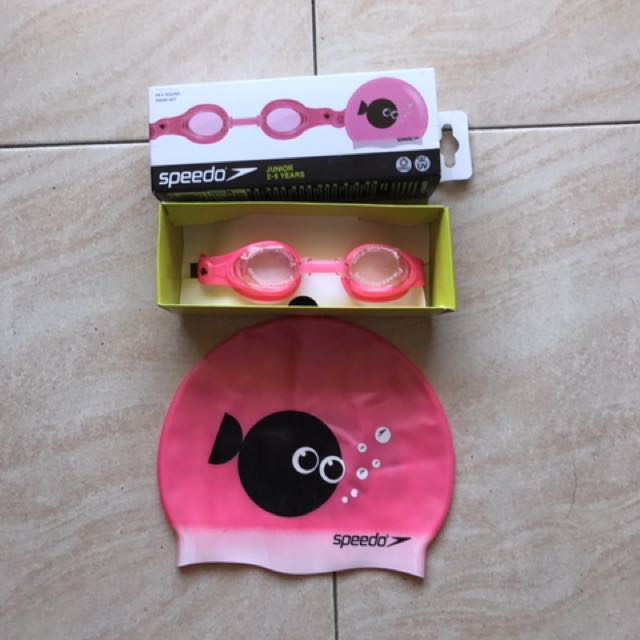 Goggles And Headcap Swim Set