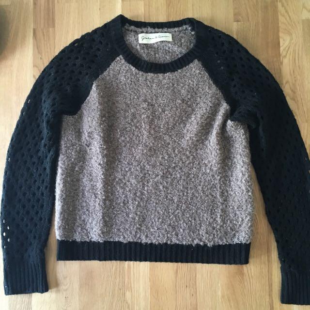 Graham & Spencer Net Sleeve Sweater