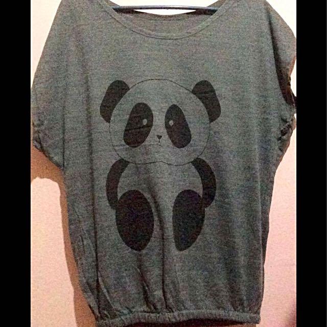 Gray panda top