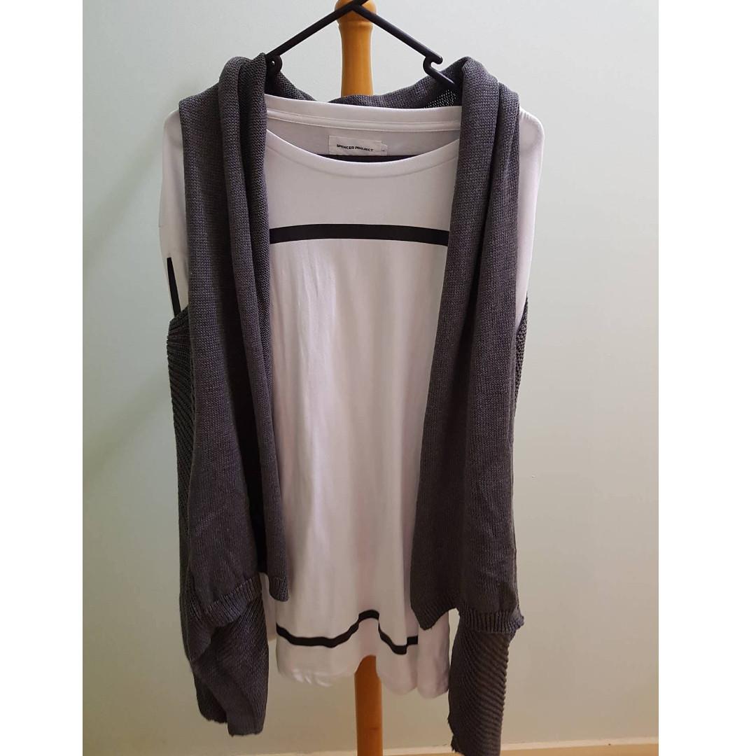 Grey Vest Cardigan