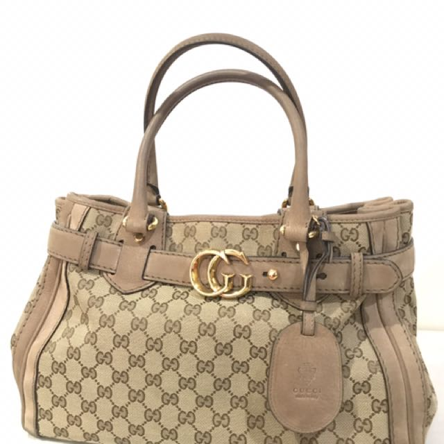 9e8079d48b1 Gucci GG Running Tote Bag (used)