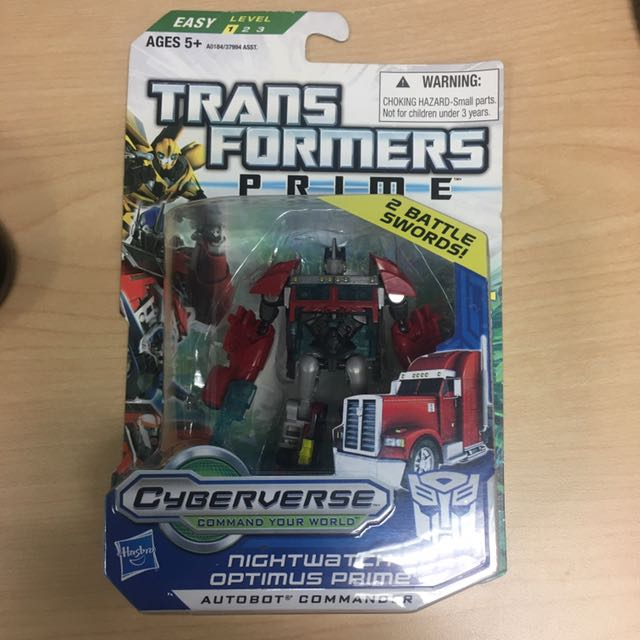 Transformers PRIME Cyberverse Commander Asst W4 NIGHTWATCH OPTIMUS PRIME