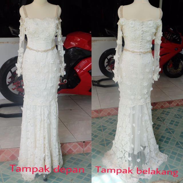 Kebaya Nikah Dress Nikah Akad Putih