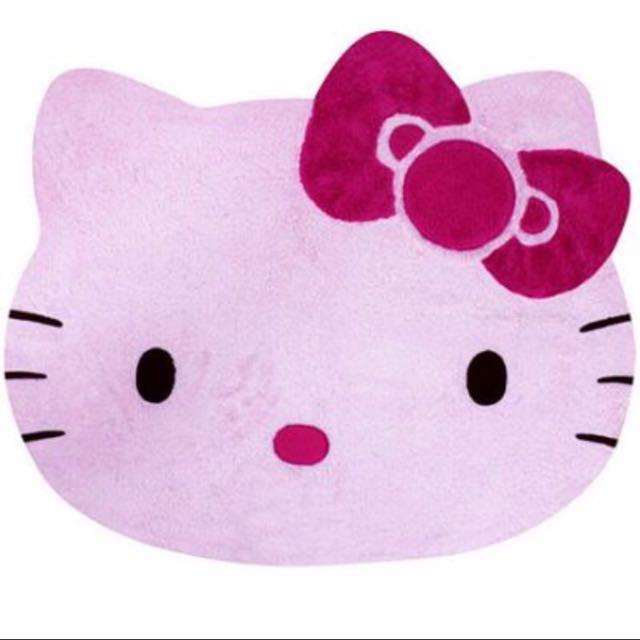 Kitty頭型絨毛地墊(正版)