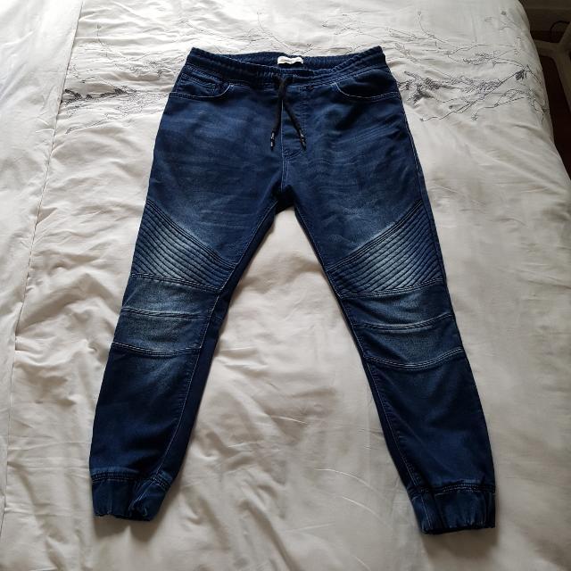 9e8f7bd1 L - Zara Biker Style Jeans (Joggers Style) (RRP $89), Men's Fashion ...