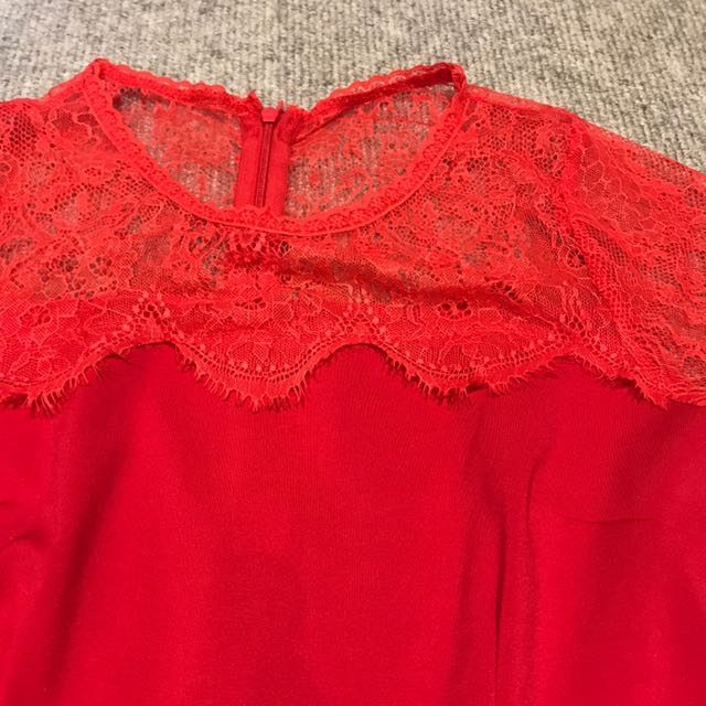 Laced Red Dress