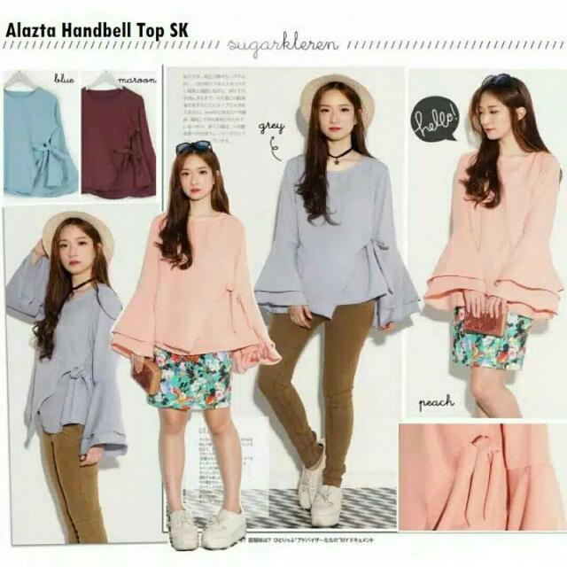 Layer bell tied sied top
