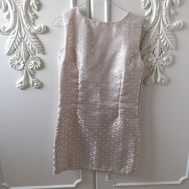 Light Pink Metallic Dress