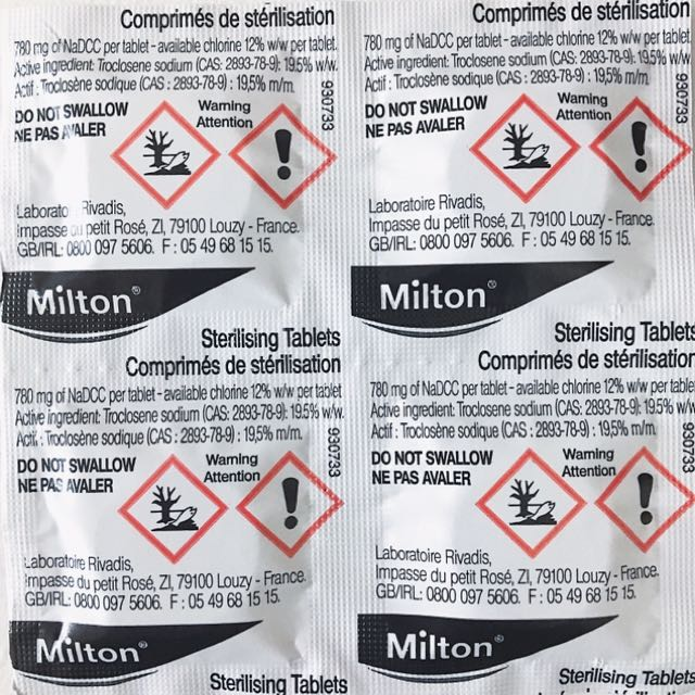 Milton Sterilizing Tablet