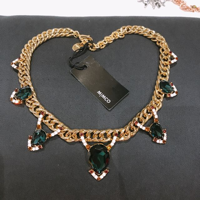 Mimco Crystal Embellished Necklace