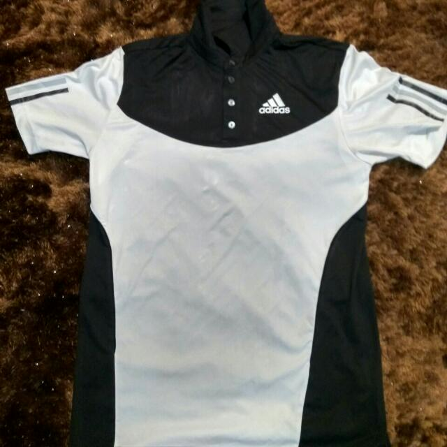 Monochrome Climacool Adidas Polo Shirt - Ori & Authentic