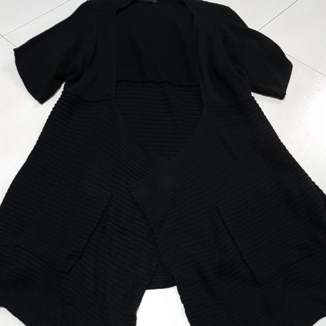 M)phosis Black Long Cardigan