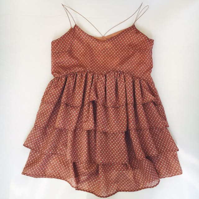 My Baby Ruffle Dress - Peach Floral
