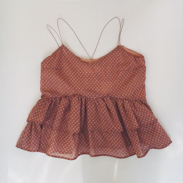 My Baby Ruffle Top - Peach Floral