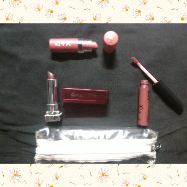 NYX & EB Lippies Bundle w/ case
