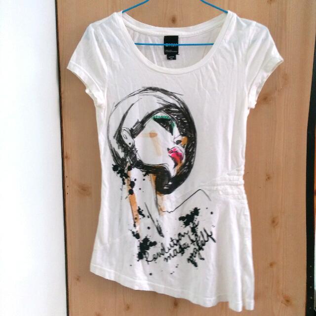 ONLY白色T-shirt #大掃除五折