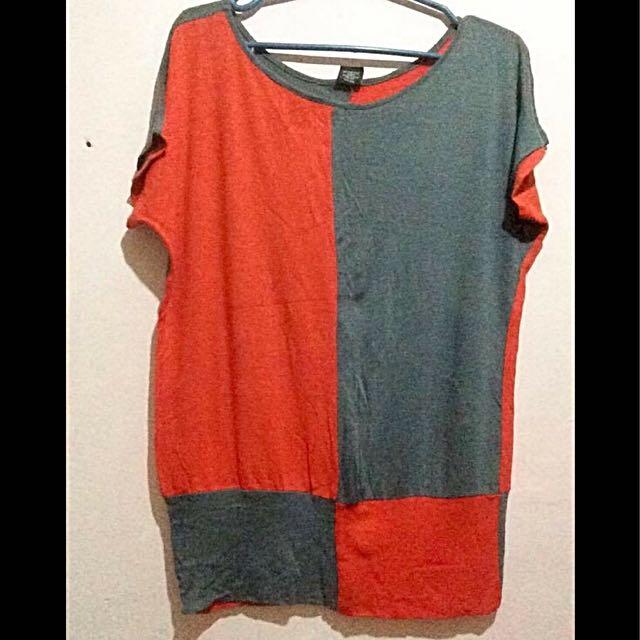Orange-gray top