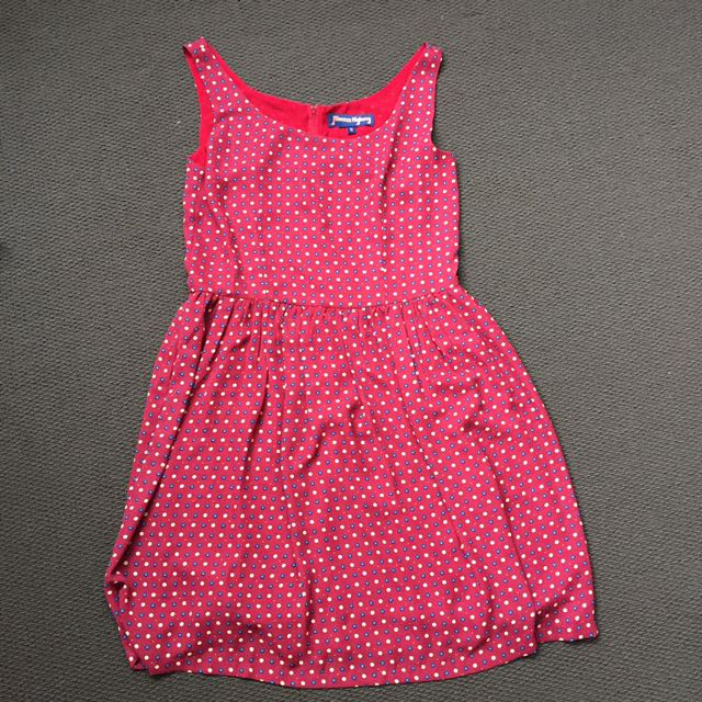 Princess Highway Red Spotted Dress