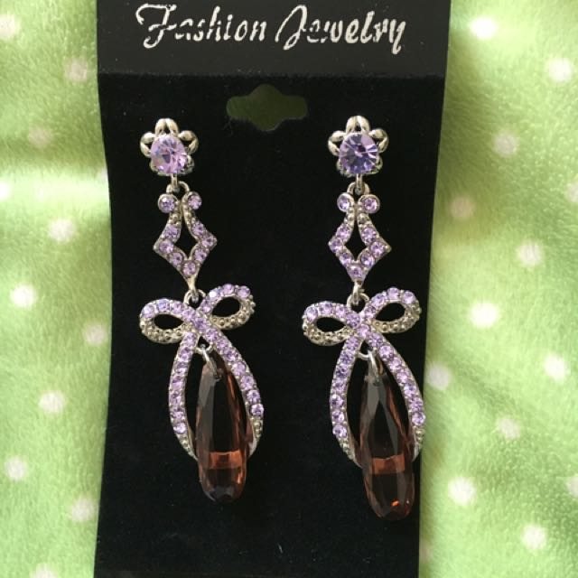 Purple Costume Earrings