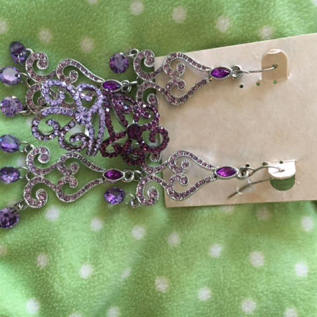 Purple Costume Jewellery