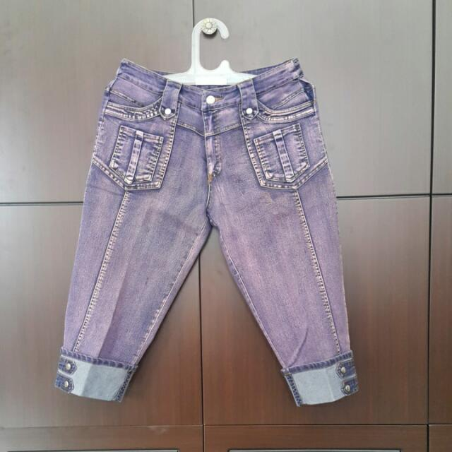 Purple Washed Jeans