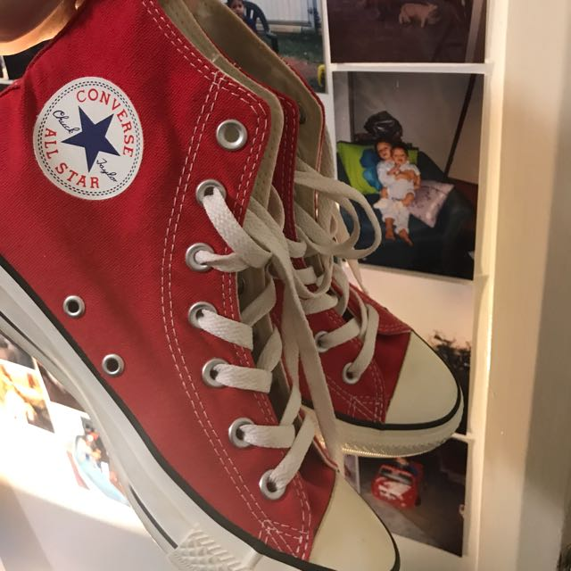 Red Converse All Star High Tops