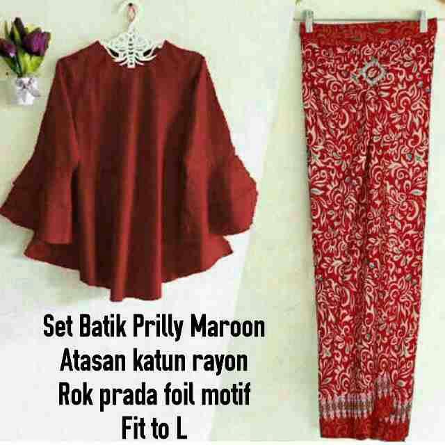 Set Batik Maroon