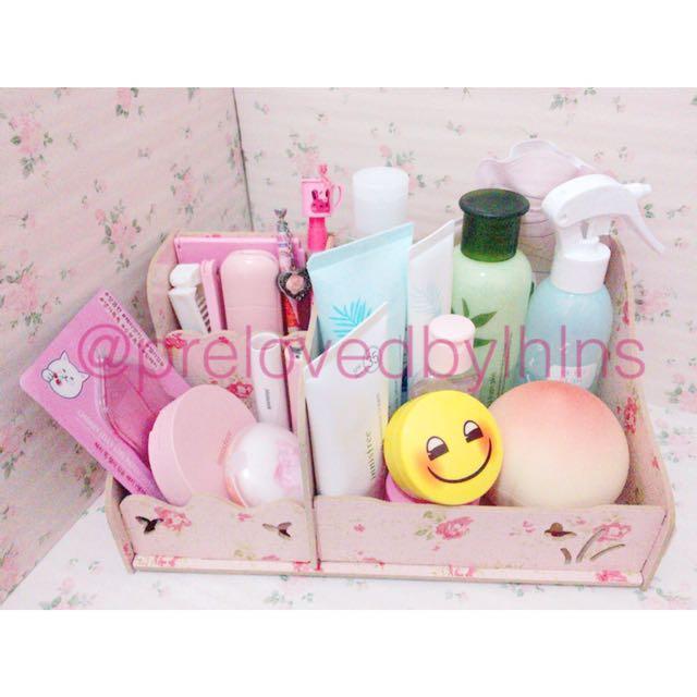 Shabby Pink Makeup/Desk Organizer