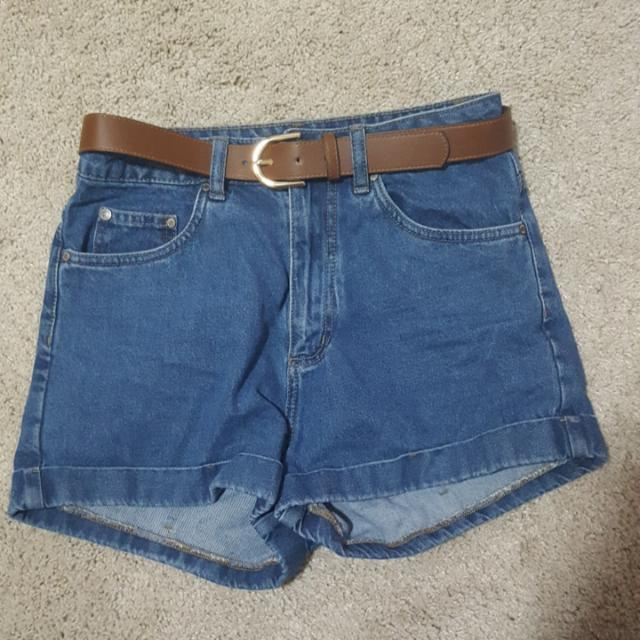 Size 10 High Waisted Denim Shorts