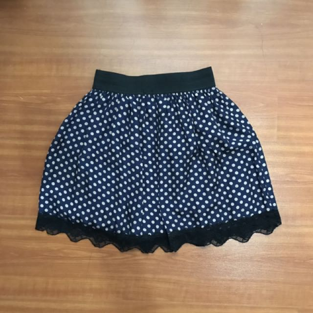 Skirt Polkadot With Lace