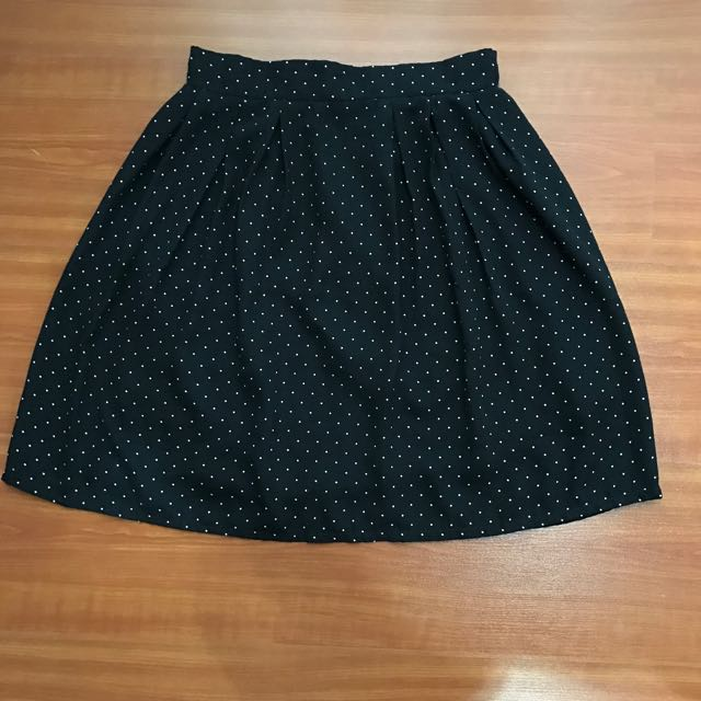 Skirt Polkadot With Zipper