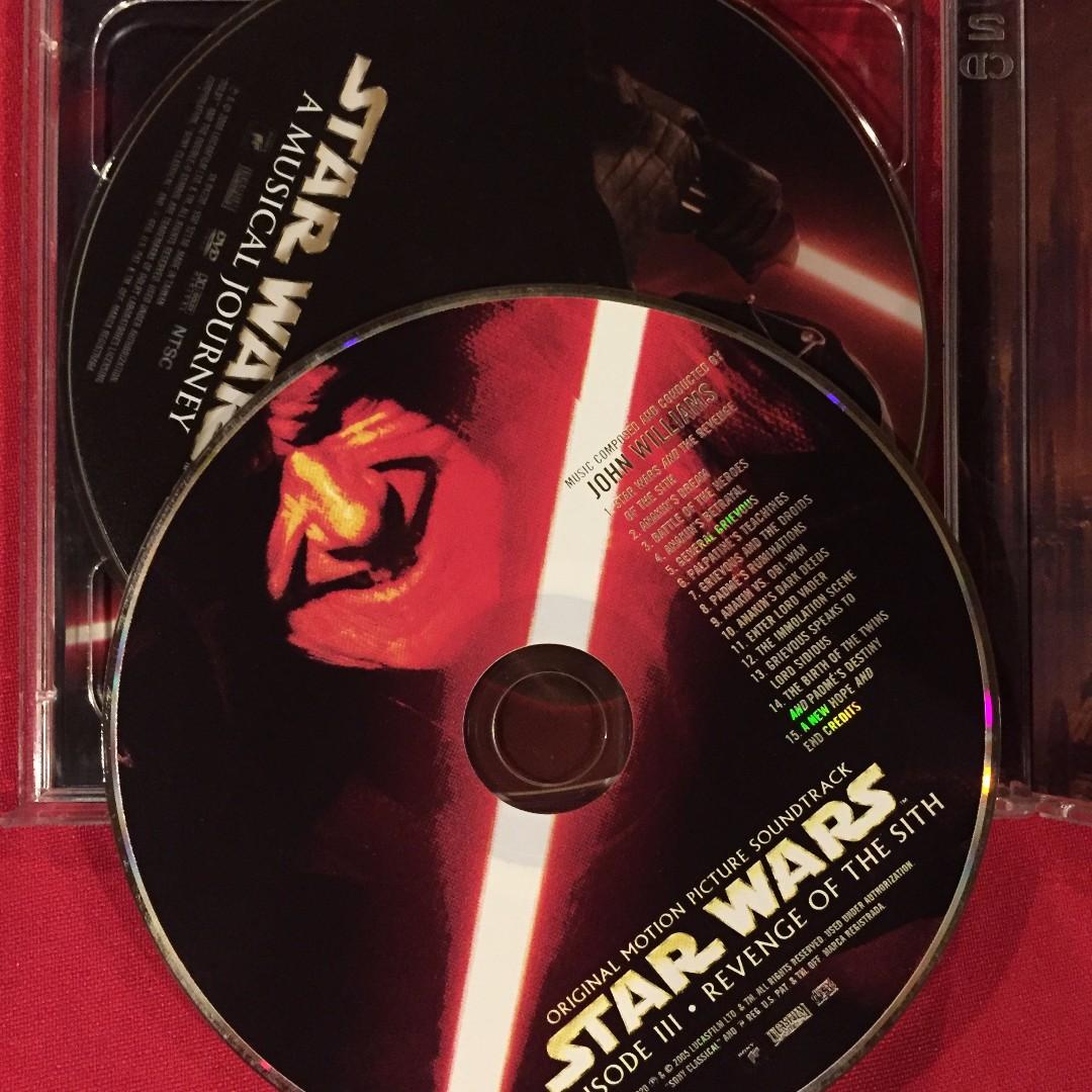 Star Wars Episode 3 Revenge Of The Sith Movie Soundtrack Ost Cd Music Media Cd S Dvd S Other Media On Carousell