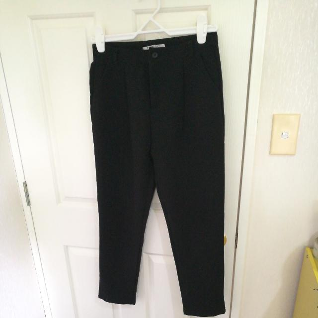 suit pants black ankle sleeves