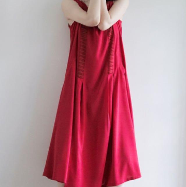 【徵】台灣設計師品牌tan-tan 圓領剪接洋裝