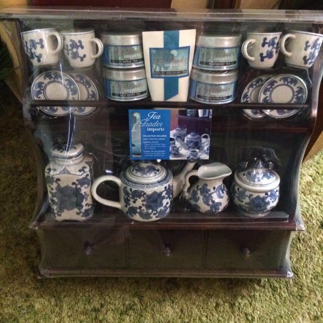 Tea Set & Wall Shelf