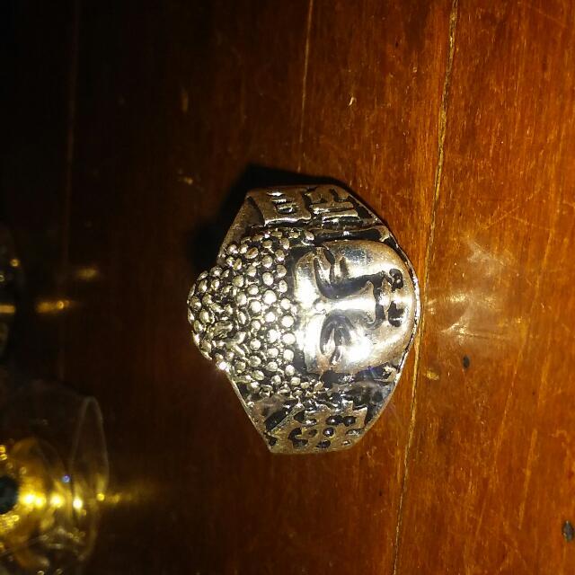 Tibet Silver Buddha Ring