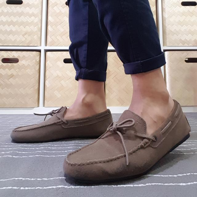 Tod's City Gommino Moccasins In Suede