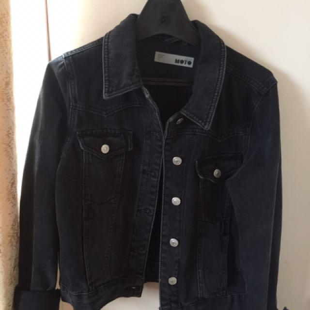 Topshop Denim Moto Jacket