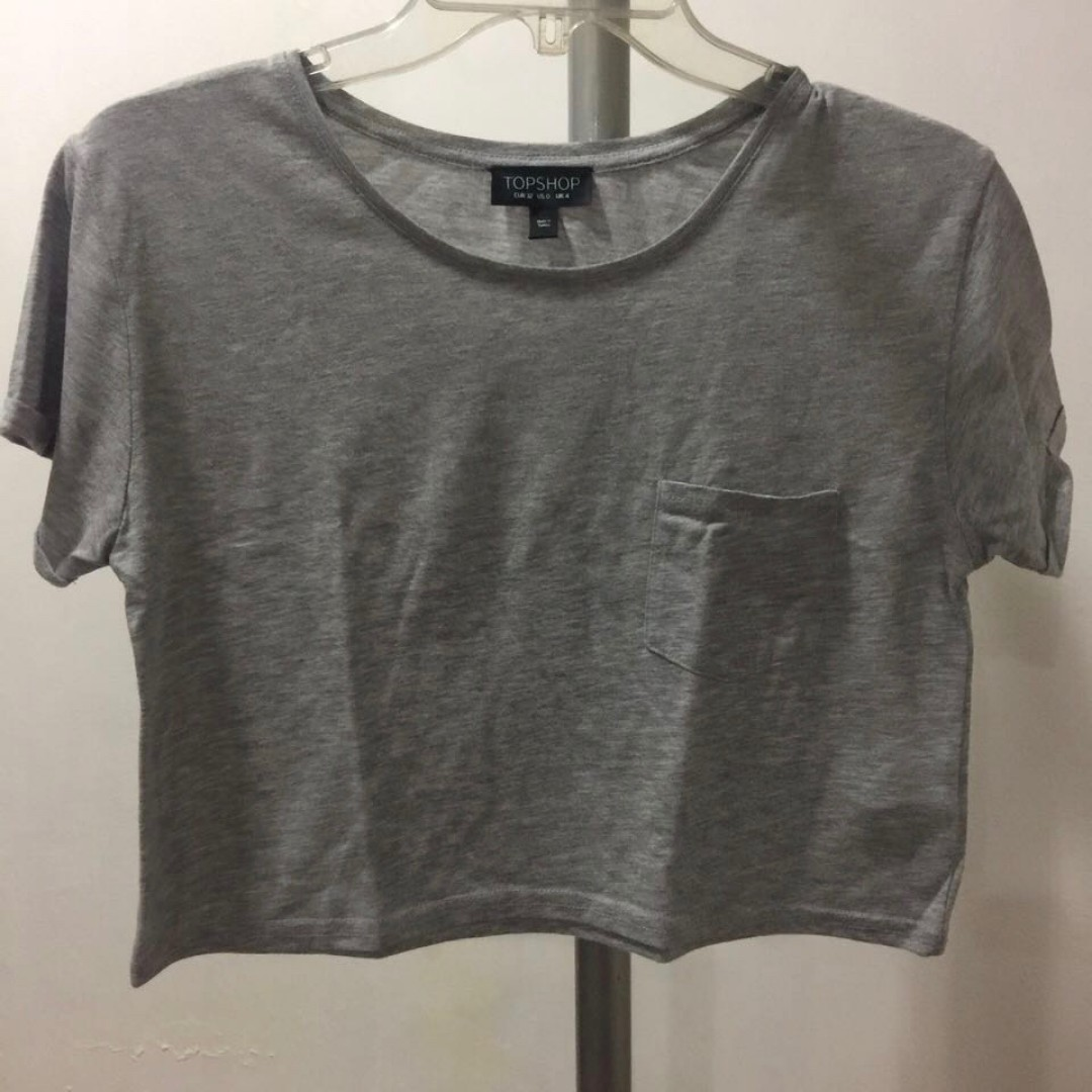 Topshop Gray Top