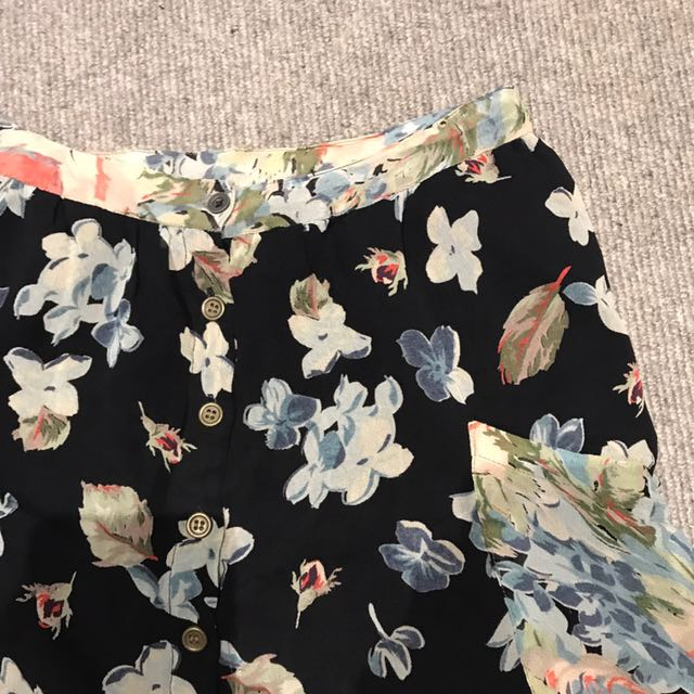 Topshop Printed Skirt